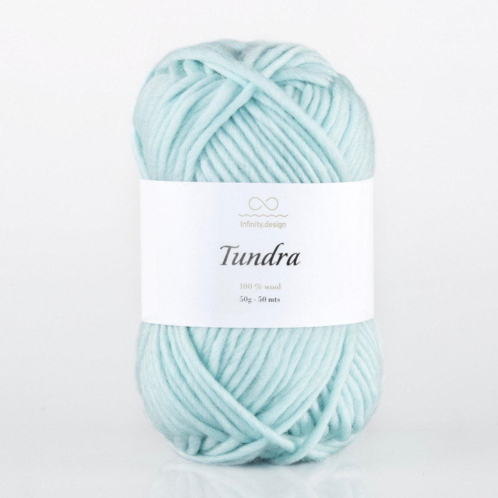 Пряжа TUNDRA INFINITY DESIGN (100% ШЕРСТЬ) 50г/50м #7512 LIGHT SEA GREEN