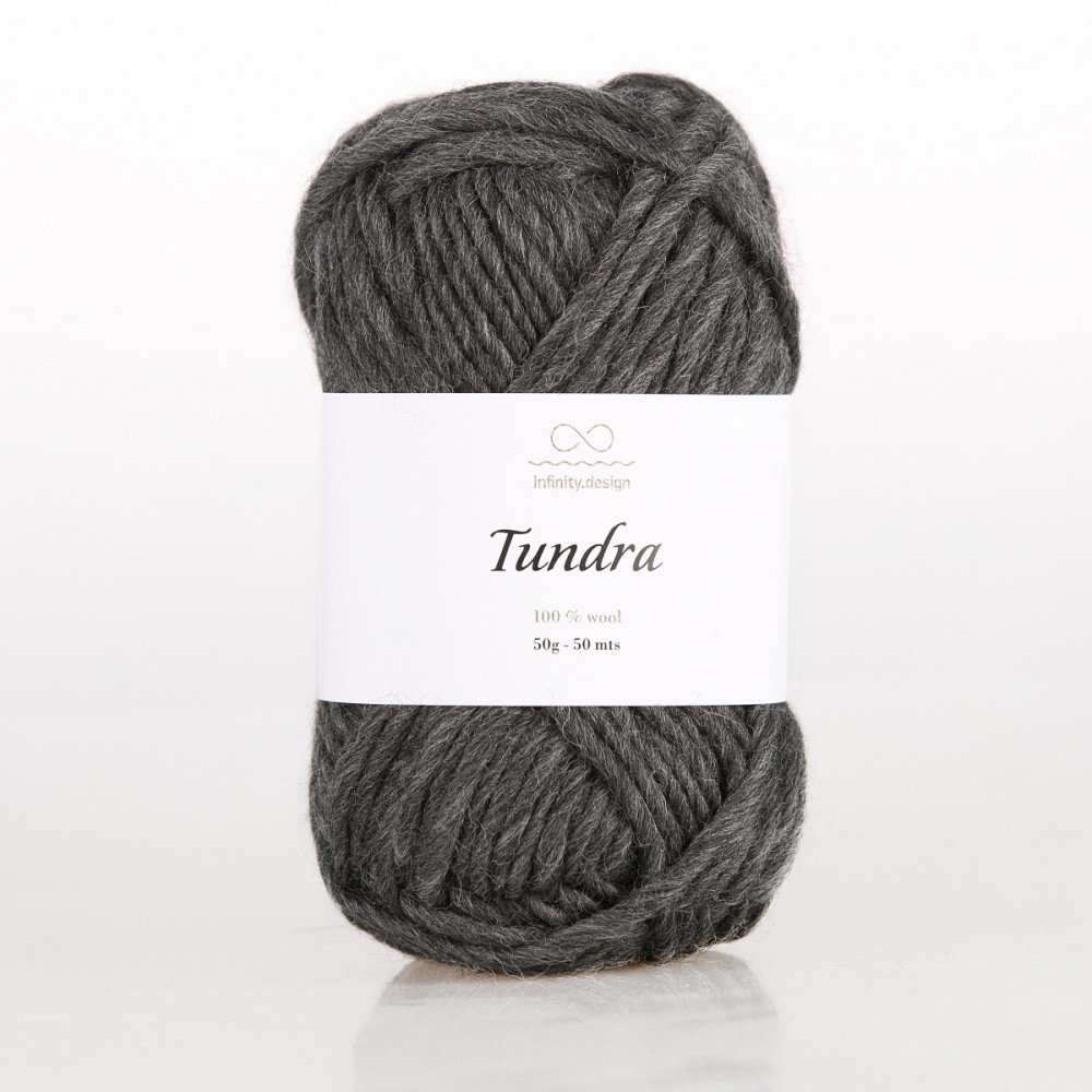 TUNDRA INFINITY DESIGN (100% ШЕРСТЬ) 50г/50м #1088 CHARCOAL