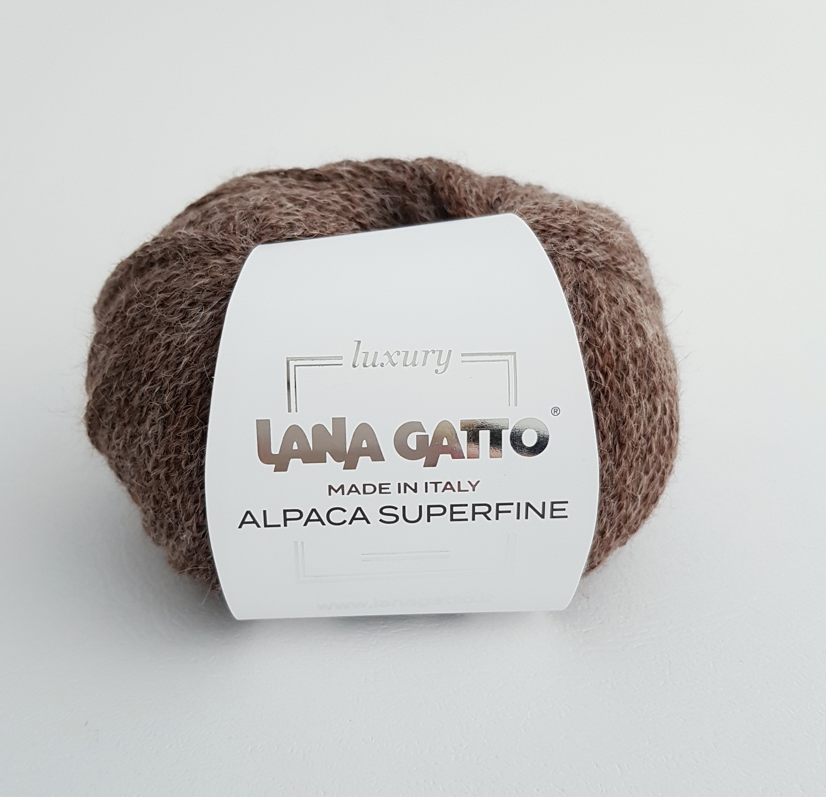 ПРЯЖА LANA GATTO ALPACA SUPERFINE (93% АЛЬПАКА, 7% НЕЙЛОН) #08479 TORTORA