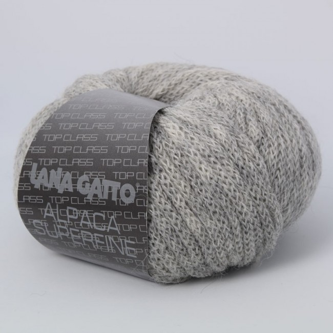 ПРЯЖА LANA GATTO ALPACA SUPERFINE (93% АЛЬПАКА, 7% НЕЙЛОН) #7611 GRIGIO CHIARO